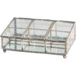 CAIXA 6 DIV SILVER ANTIQUE 22X15,5X8 CM 4046 PRESTIGE PC